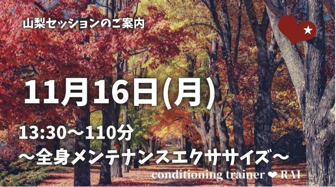 11月山梨セッション~メンテナンスエクササイズ~